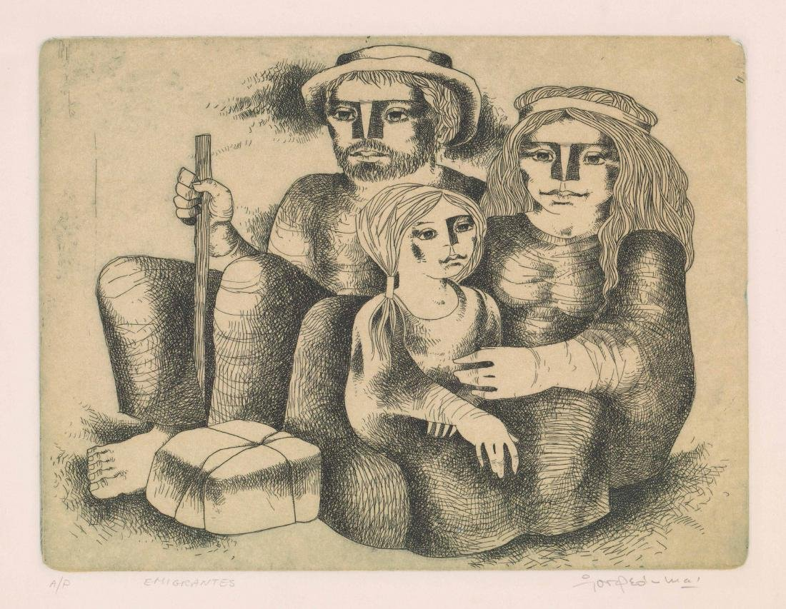 Jorge Dumas Etching From Estate of Artist