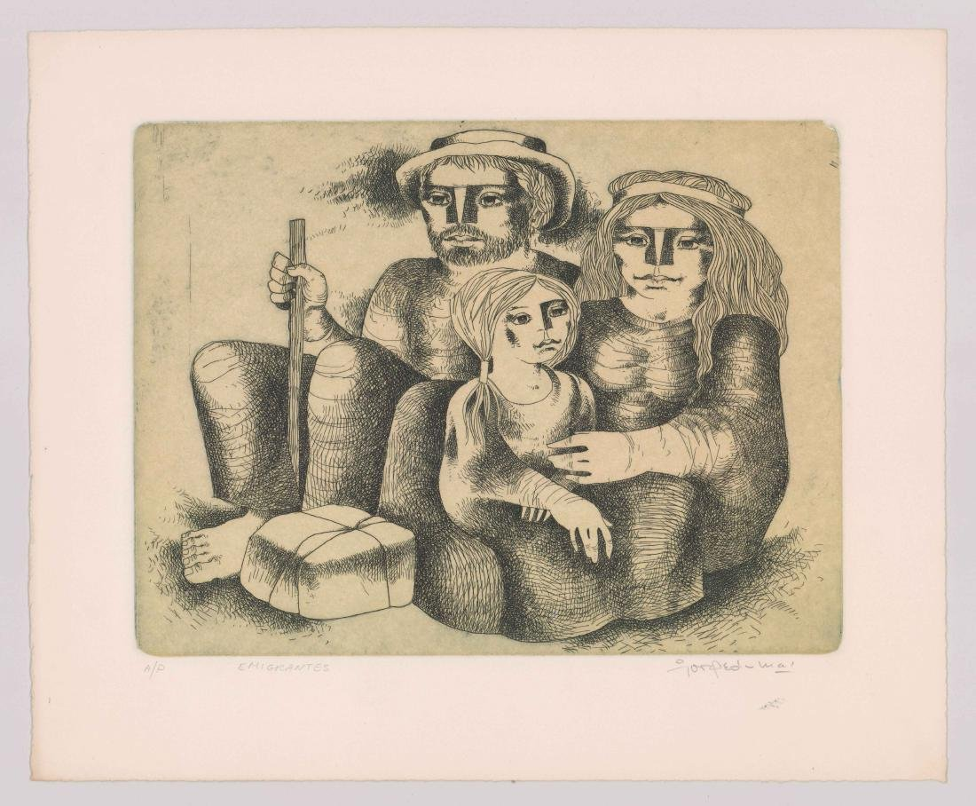 Jorge Dumas Etching From Estate of Artist - 2