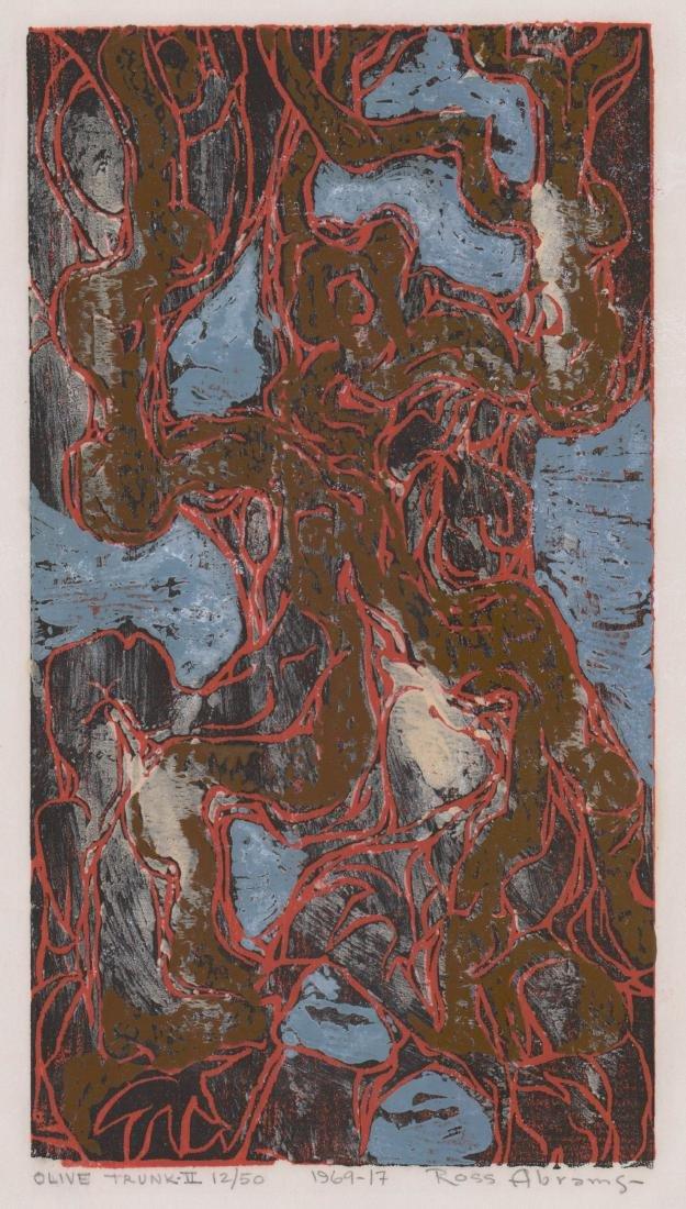 William Ross Abrams (New York b. 1920) Woodcut