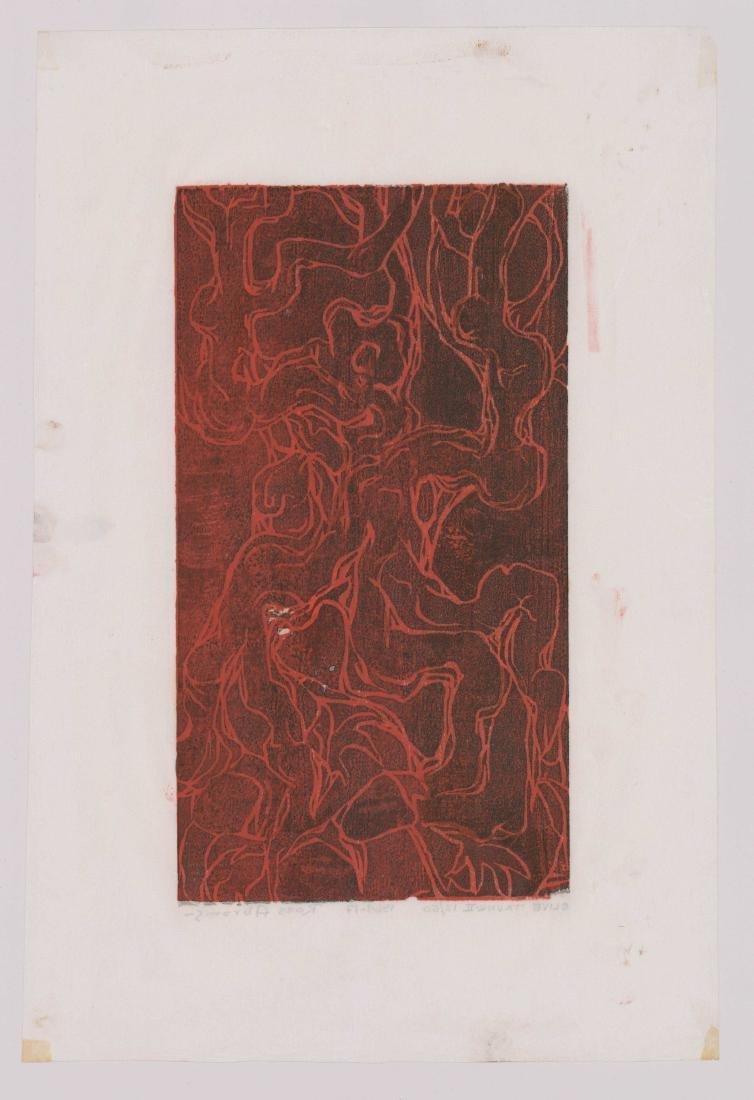 William Ross Abrams (New York b. 1920) Woodcut - 4