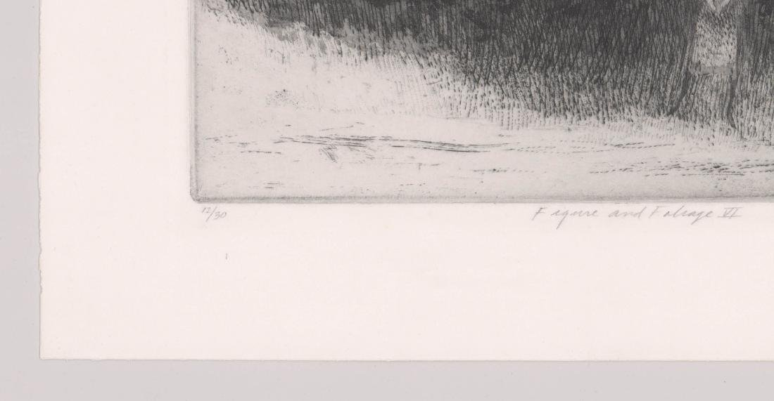 Harold Altman Etching [Figure and Foliage VI] - 4