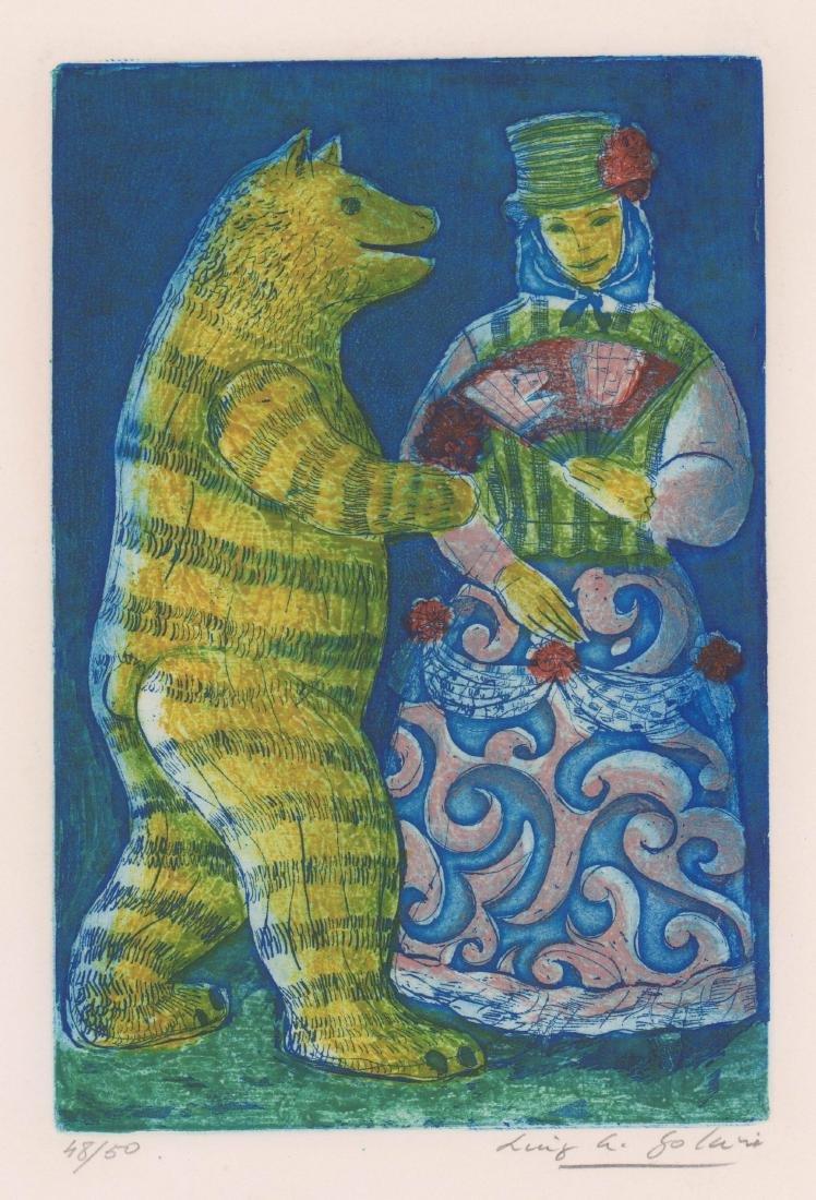 Luis Alberto Solari (1918 - 1993) Color Etching