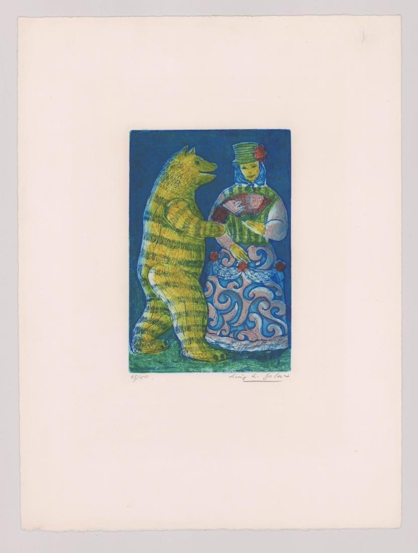 Luis Alberto Solari (1918 - 1993) Color Etching - 2