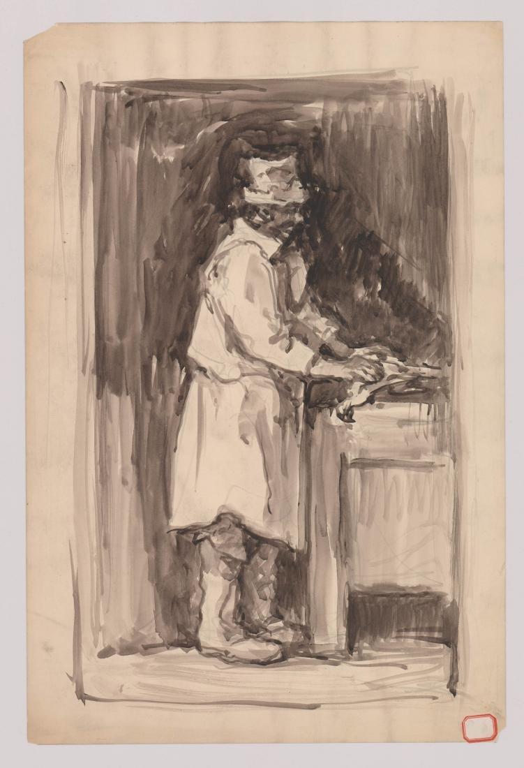 Eugene Higgins (1874-1958) Original Watercolor - 2