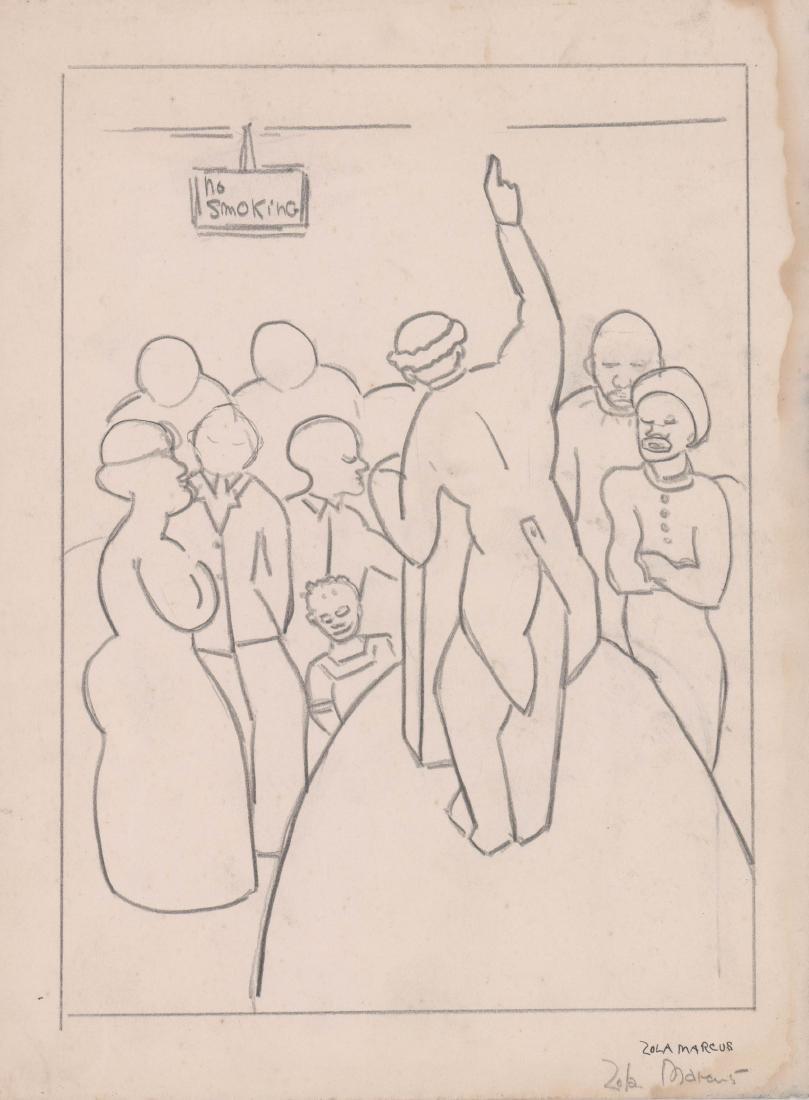 Zola Marcus (New York 1915-1998) Drawing