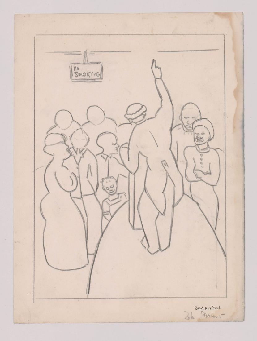 Zola Marcus (New York 1915-1998) Drawing - 2