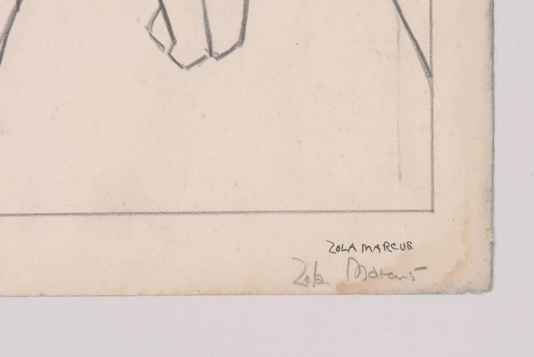 Zola Marcus (New York 1915-1998) Drawing - 3