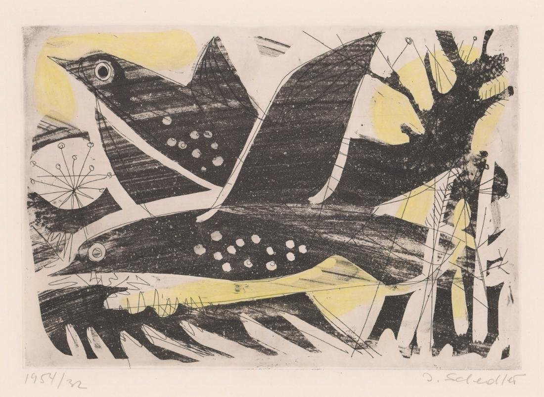 Jacques Schedler (1927-1989) Mid-Century Etching