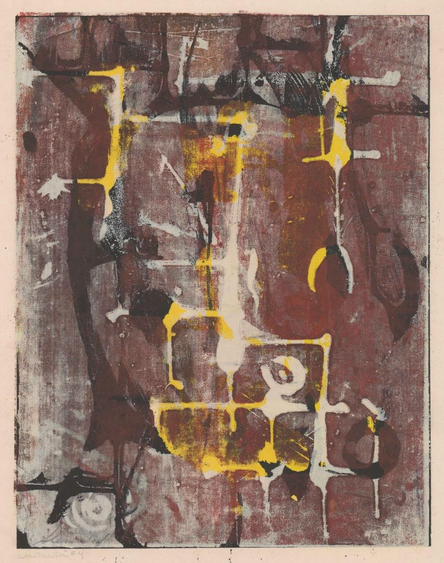 Artist Signed Lithograph [Abstraction #4]