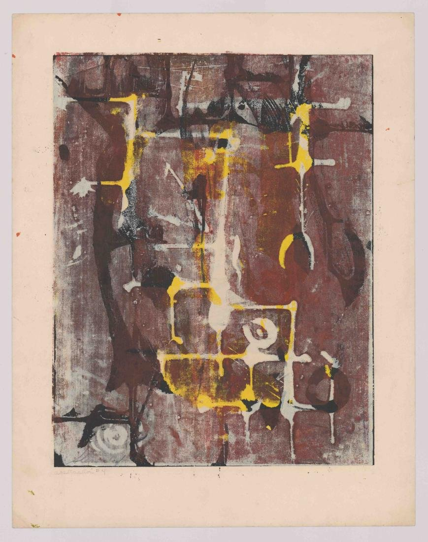 Artist Signed Lithograph [Abstraction #4] - 2