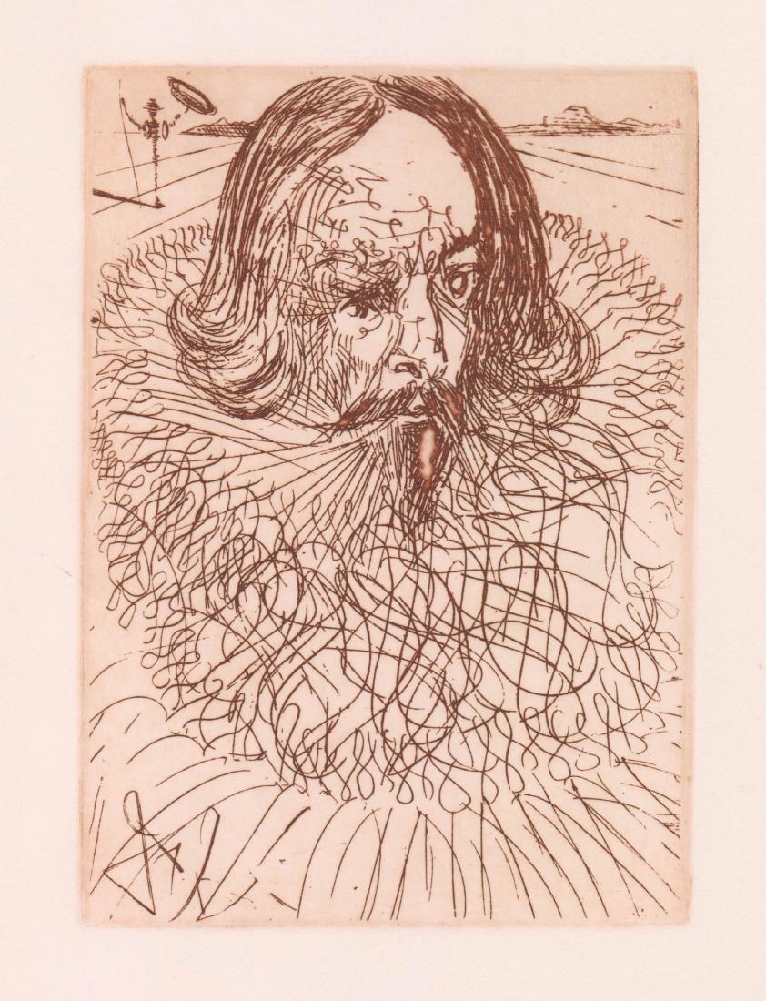 Salvador Dali Etching [Cervantes]