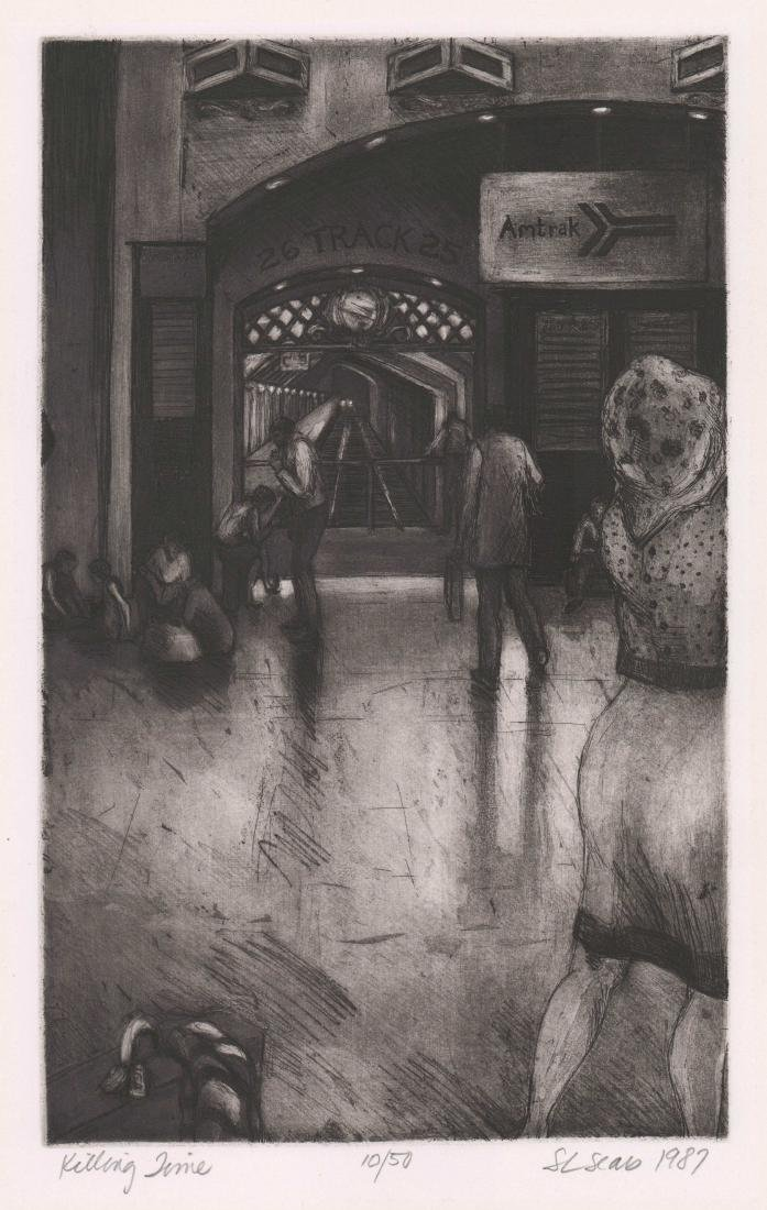 A Fine Signed Etching [Killing Time]