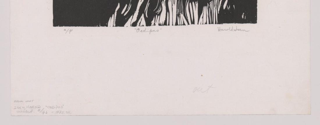 Harold Isen Artist Proof Woodcut [Oedipus] - 3