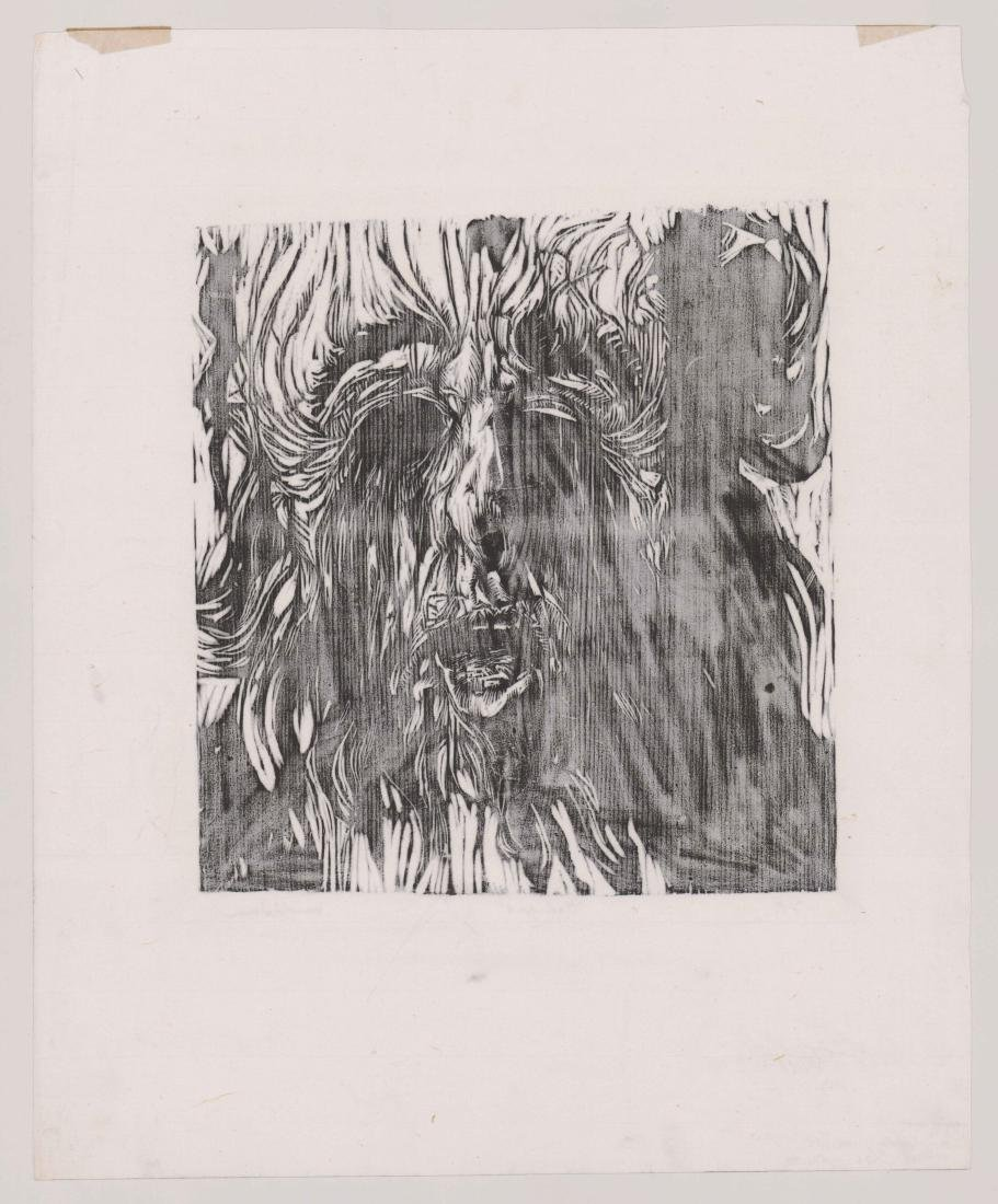 Harold Isen Artist Proof Woodcut [Oedipus] - 4