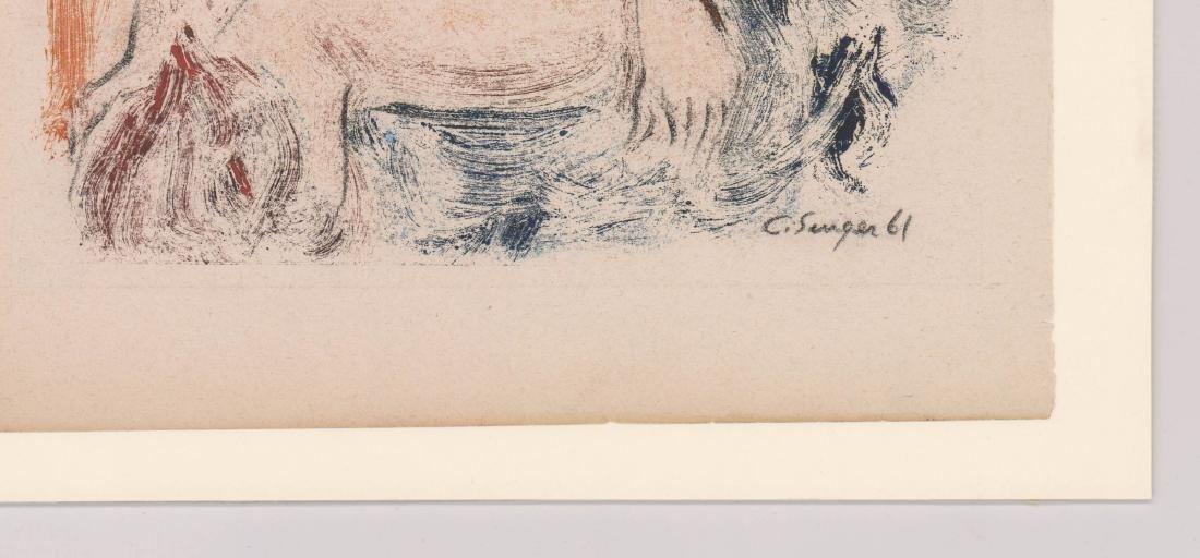 Clyde Singer Pencil Signed Monoprint - 3