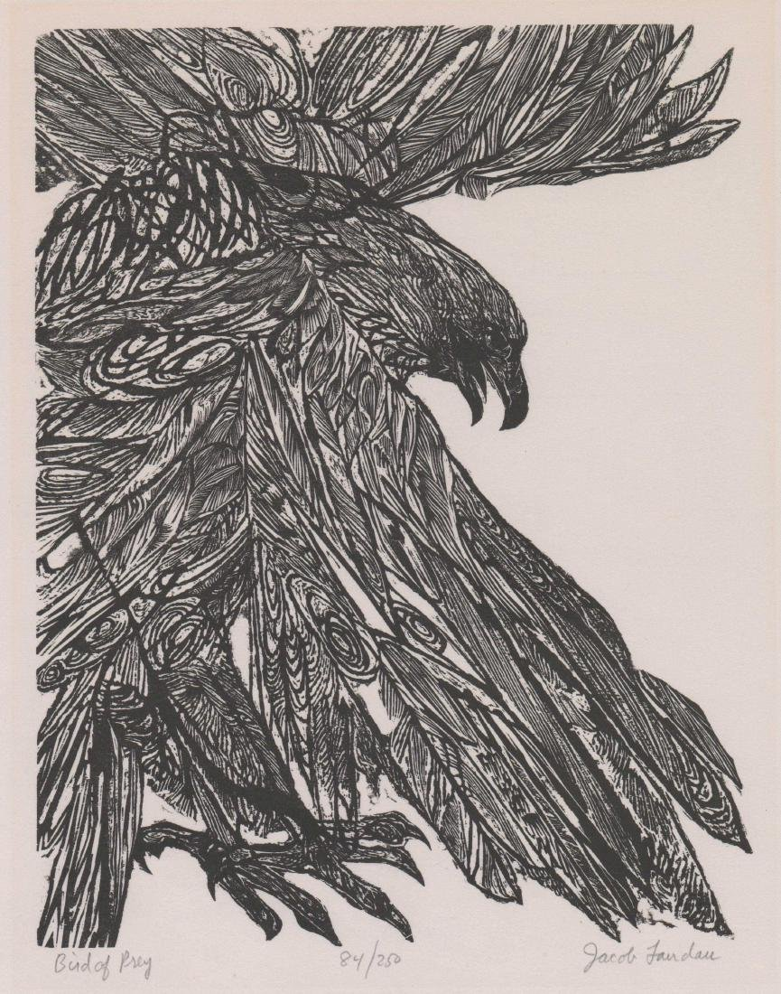 Jacob Landau Woodcut