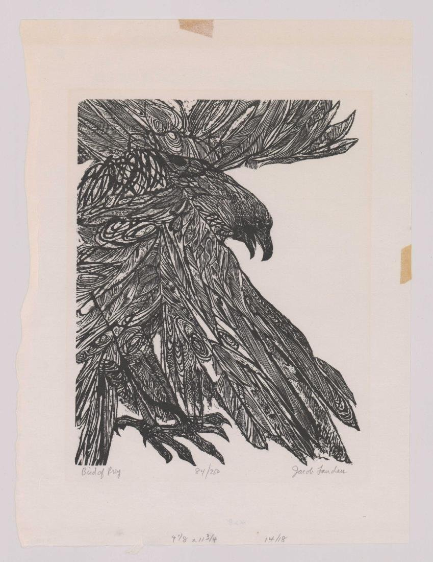 Jacob Landau Woodcut - 2