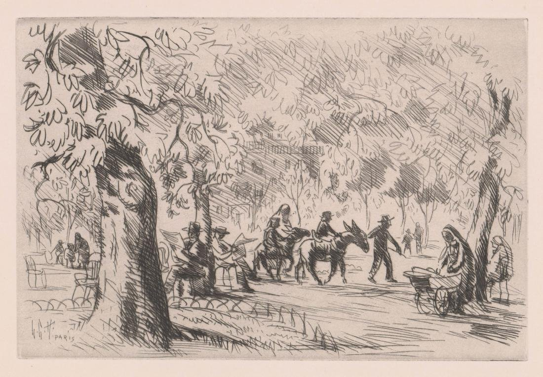 Lester G. Hornby Etching
