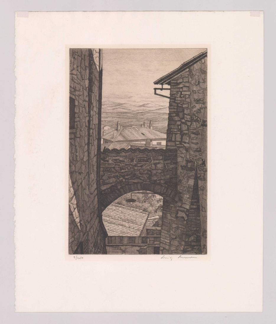Luigi Lucioni Etching [Stones And Shadows] - 2