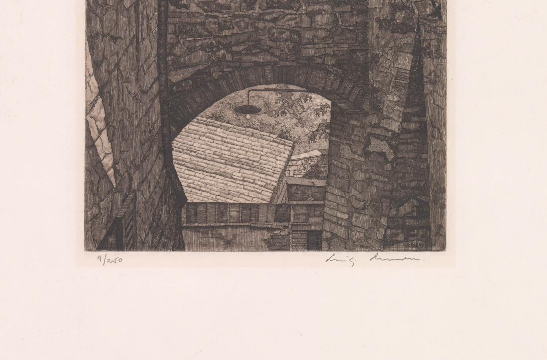 Luigi Lucioni Etching [Stones And Shadows] - 3