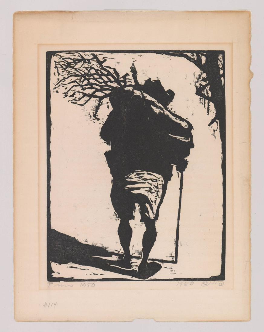 Jacob Pins (1917-2005) Woodcut - 2