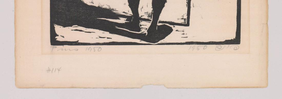 Jacob Pins (1917-2005) Woodcut - 3