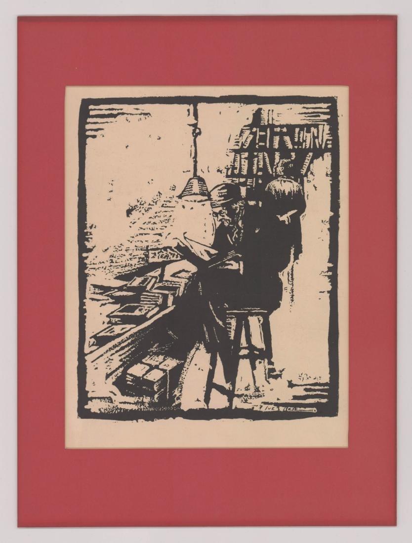 Iver Rose Woodblock Print - 2