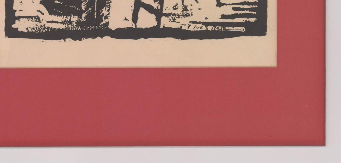 Iver Rose Woodblock Print - 3