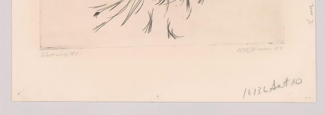 Mid-Century Signed Etching [Phoenix] By Loughman - 3