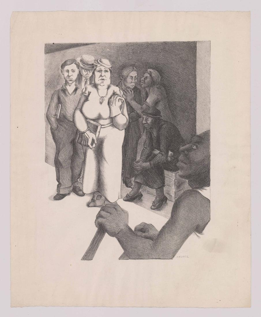 Harold Anchel (1912-1980) Lithograph - 2