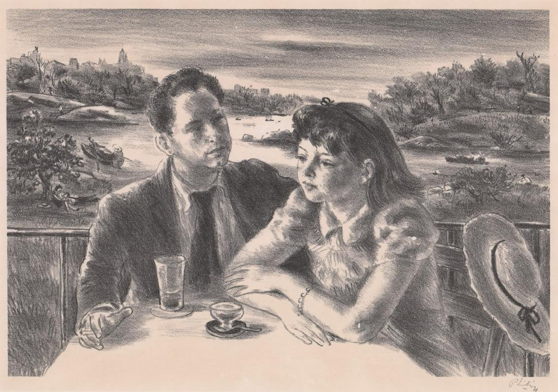 Robert Philipp Lithograph [By The Lake]