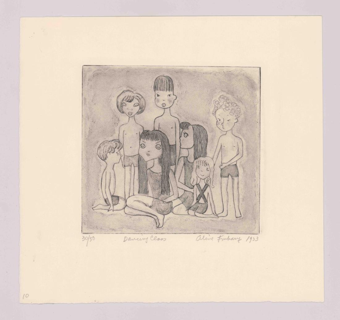Aline Fruhauf Etching [Dancing Class, 1933] - 2