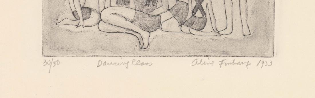 Aline Fruhauf Etching [Dancing Class, 1933] - 3