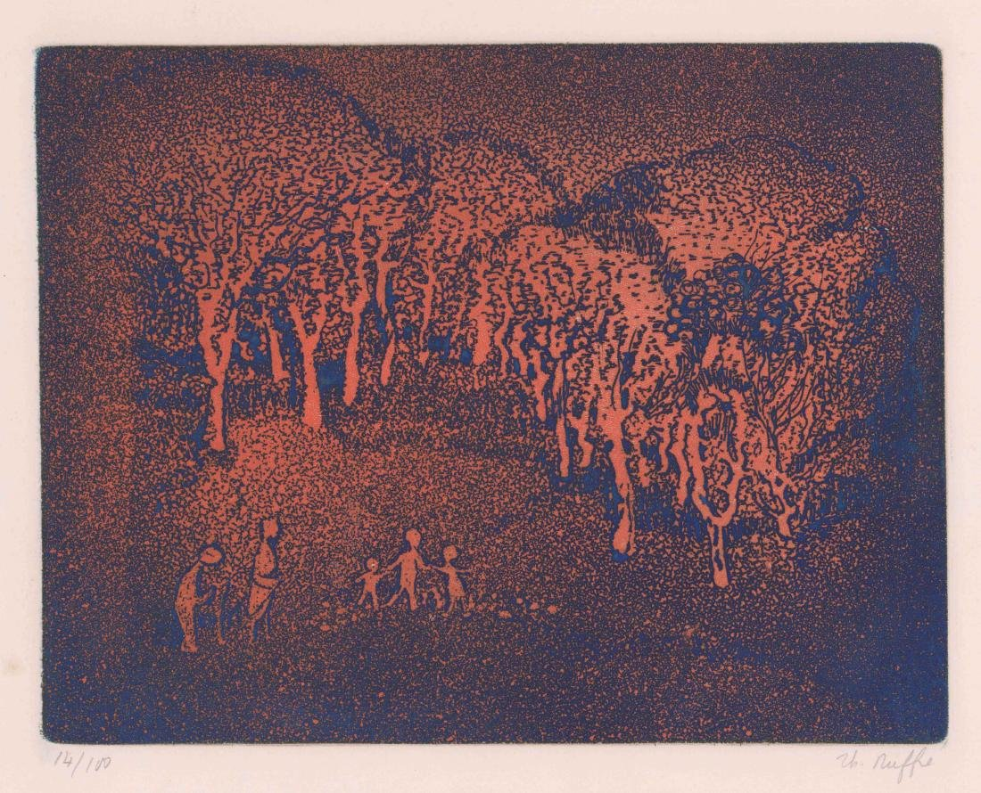 Mid-Century Modern Etching [Le Verger]
