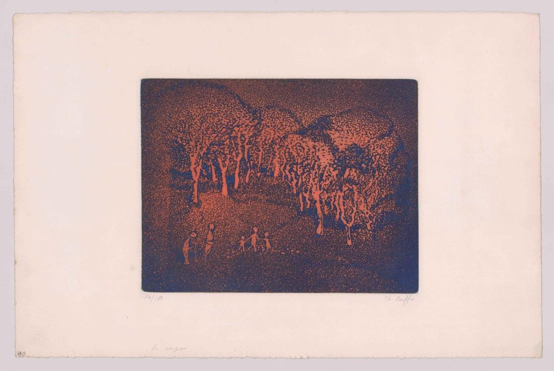 Mid-Century Modern Etching [Le Verger] - 2