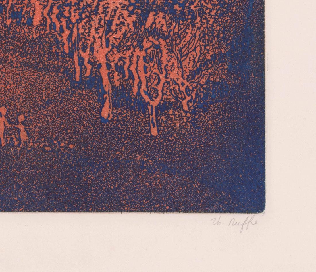 Mid-Century Modern Etching [Le Verger] - 3