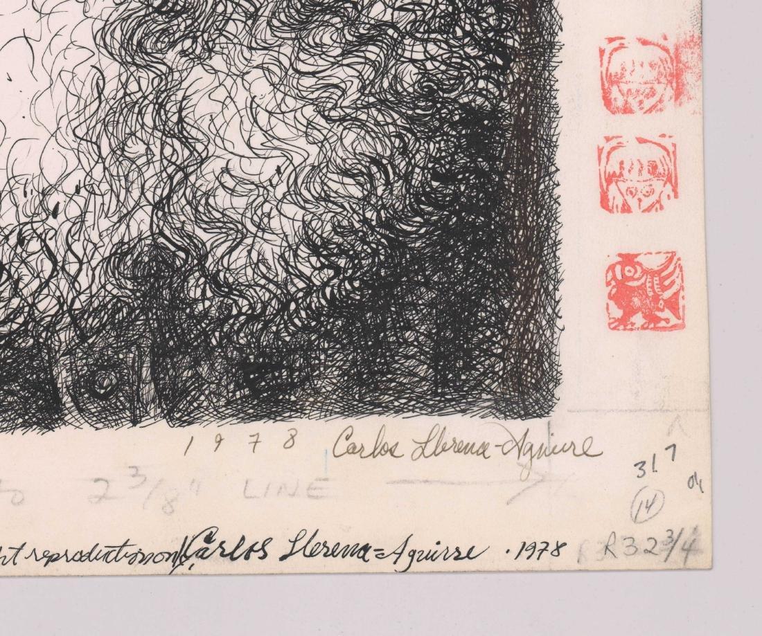Carlos Llerena Aguirre (1952-) Original Drawing - 2