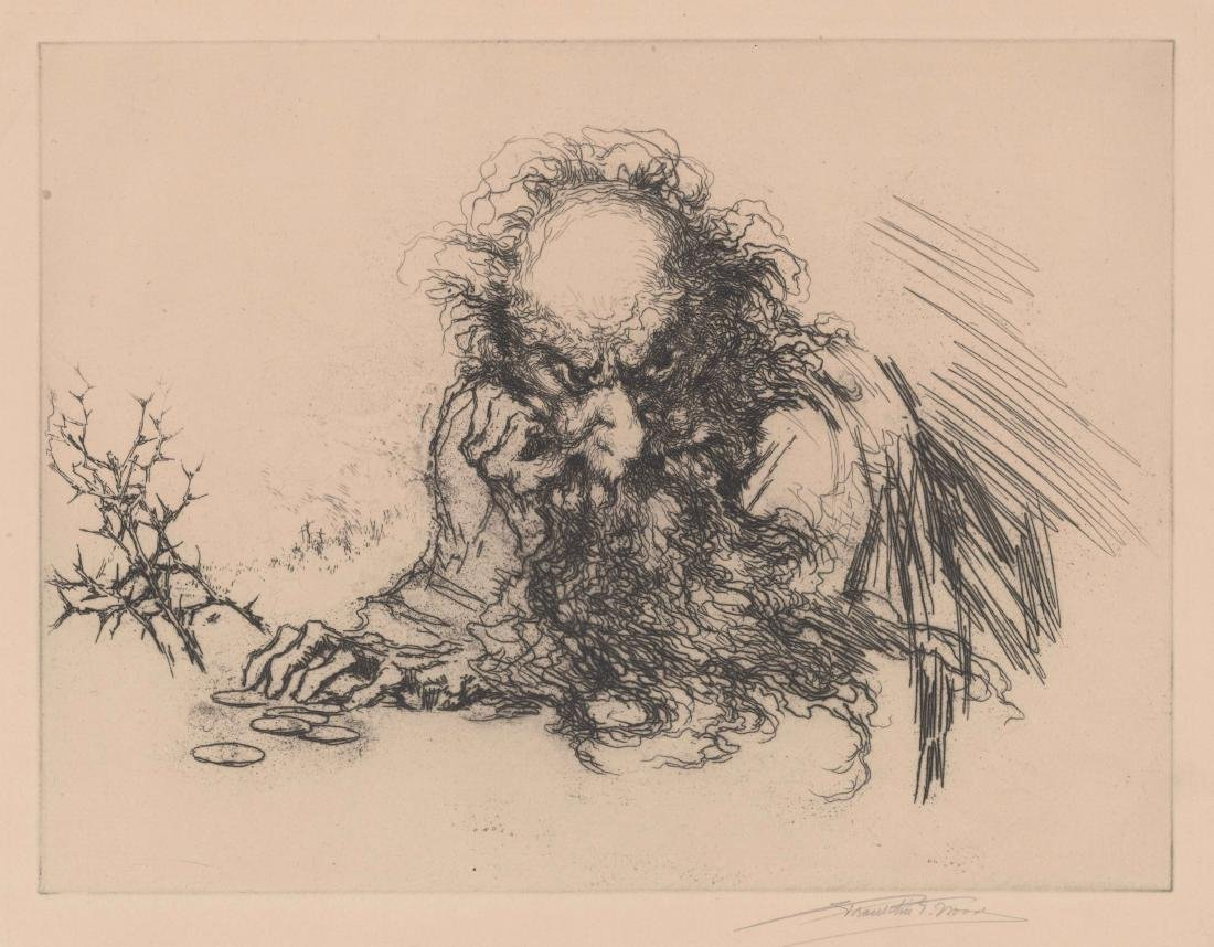 Franklin T. Wood Etching [Tolstoy]