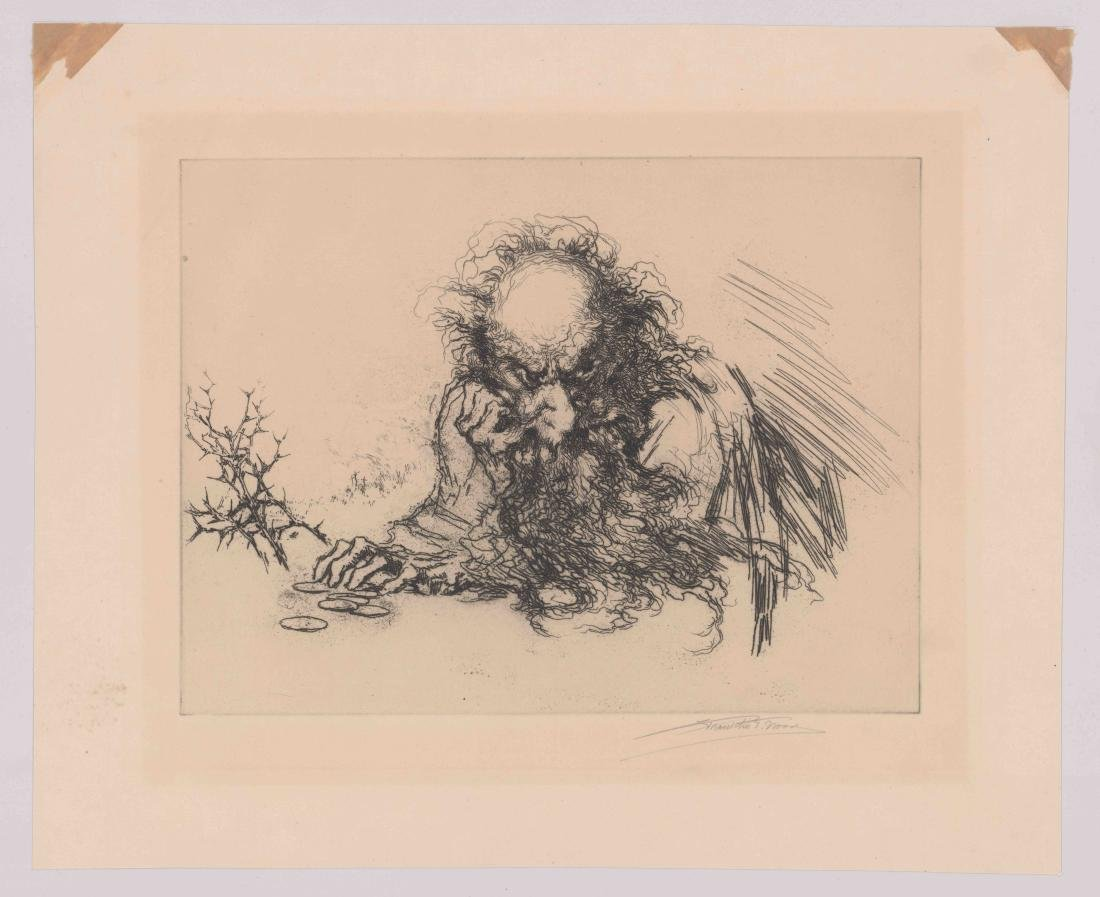 Franklin T. Wood Etching [Tolstoy] - 2