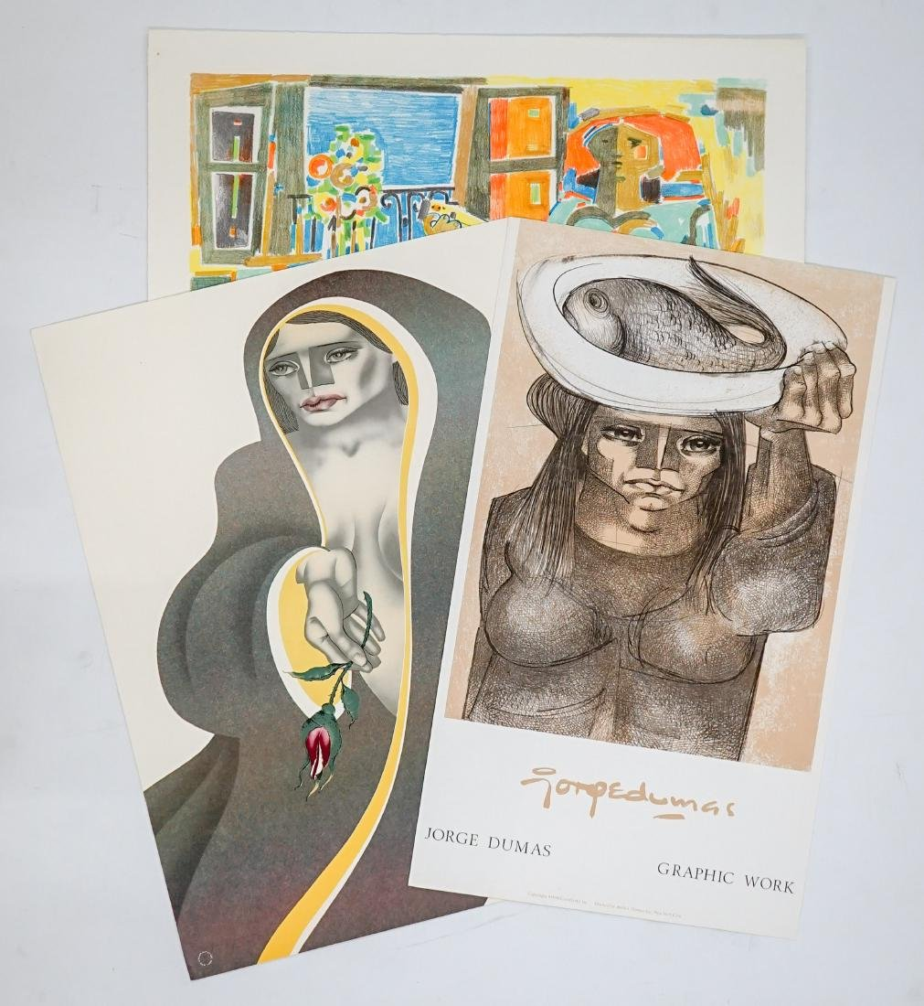 Jorge Dumas Lithographs From Estate of Artist