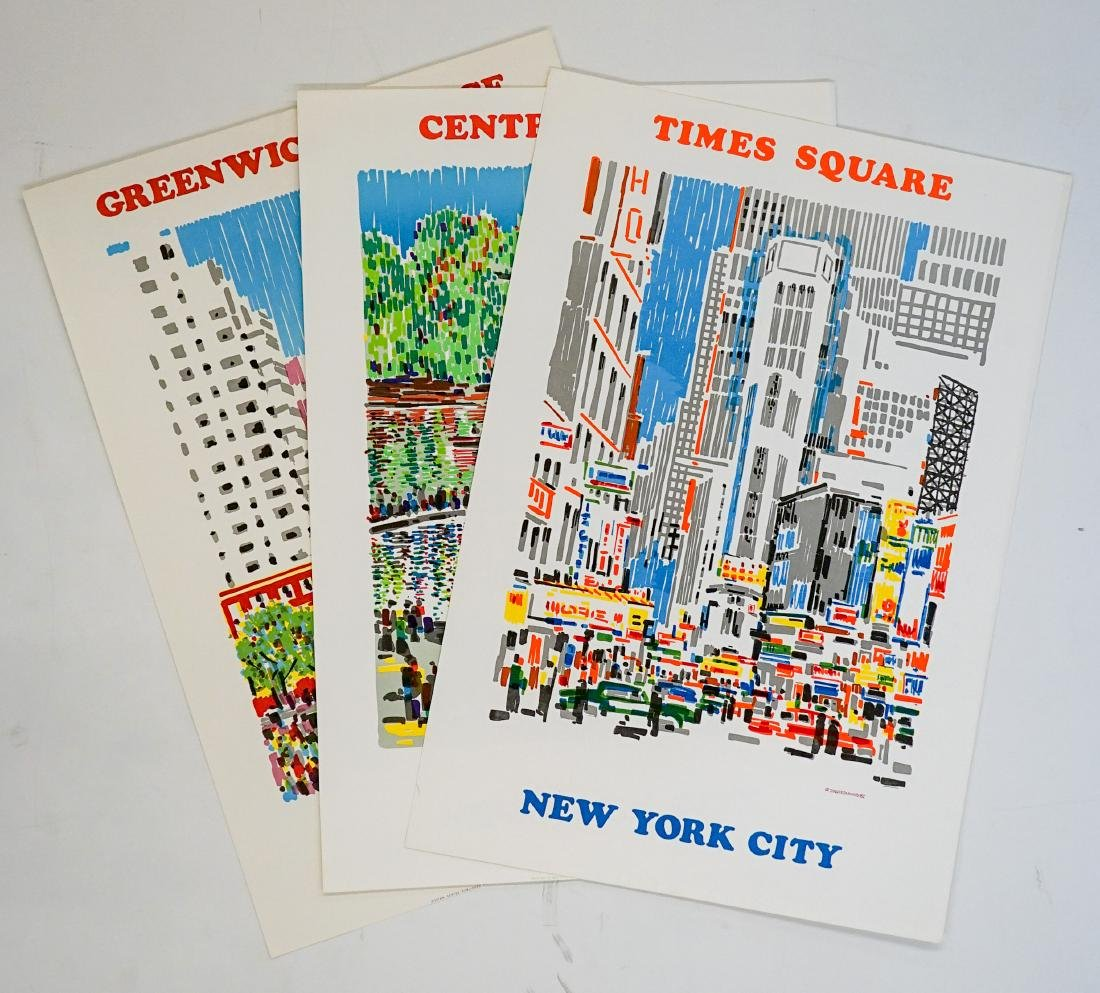 New York City Posters By Atelier Dumas, Three