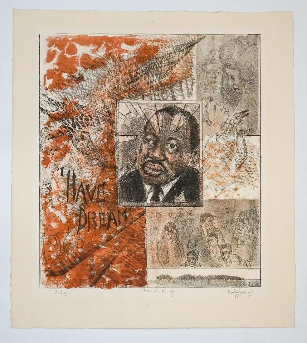 Chaim Gross Lithograph [M.L.K. Jr.] - 2