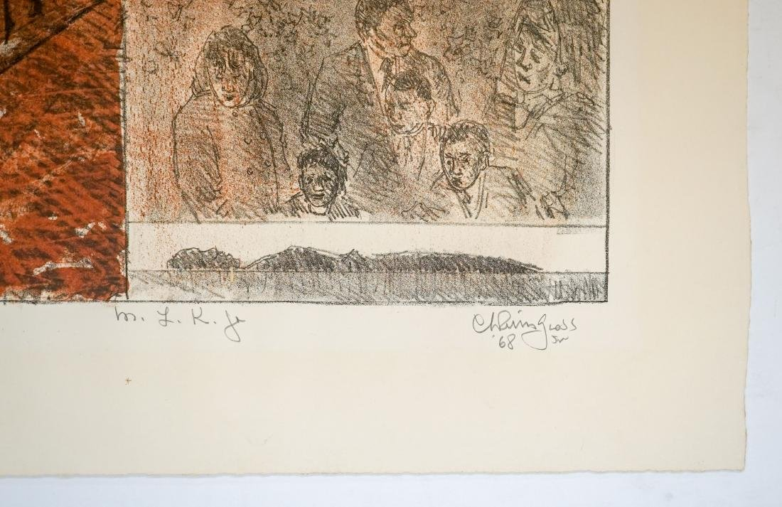 Chaim Gross Lithograph [M.L.K. Jr.] - 4