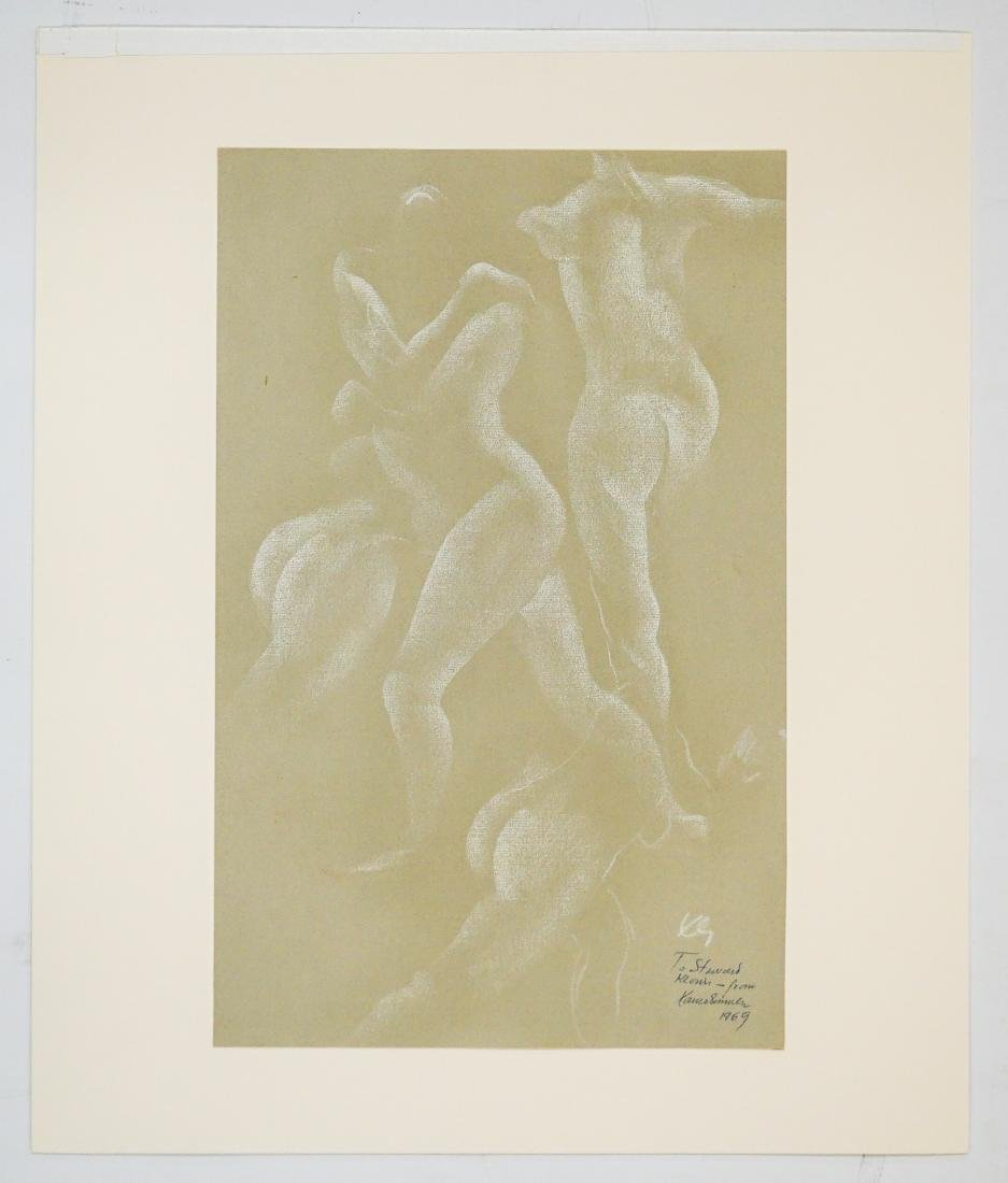 Xavier Gonzalez (1898-1993) Chalk/Paper - 2