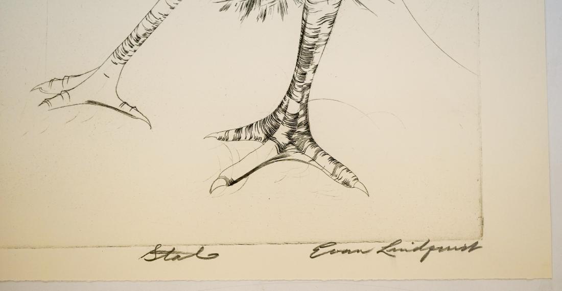 Evan Lindquist (Arkansas born 1936) Large Etching - 3
