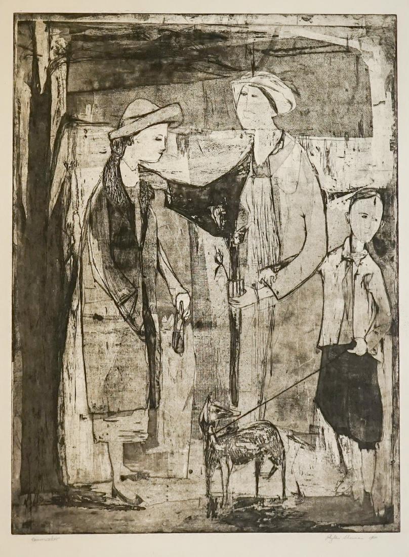 Phyllis Sherman Mid-Century Large Etching