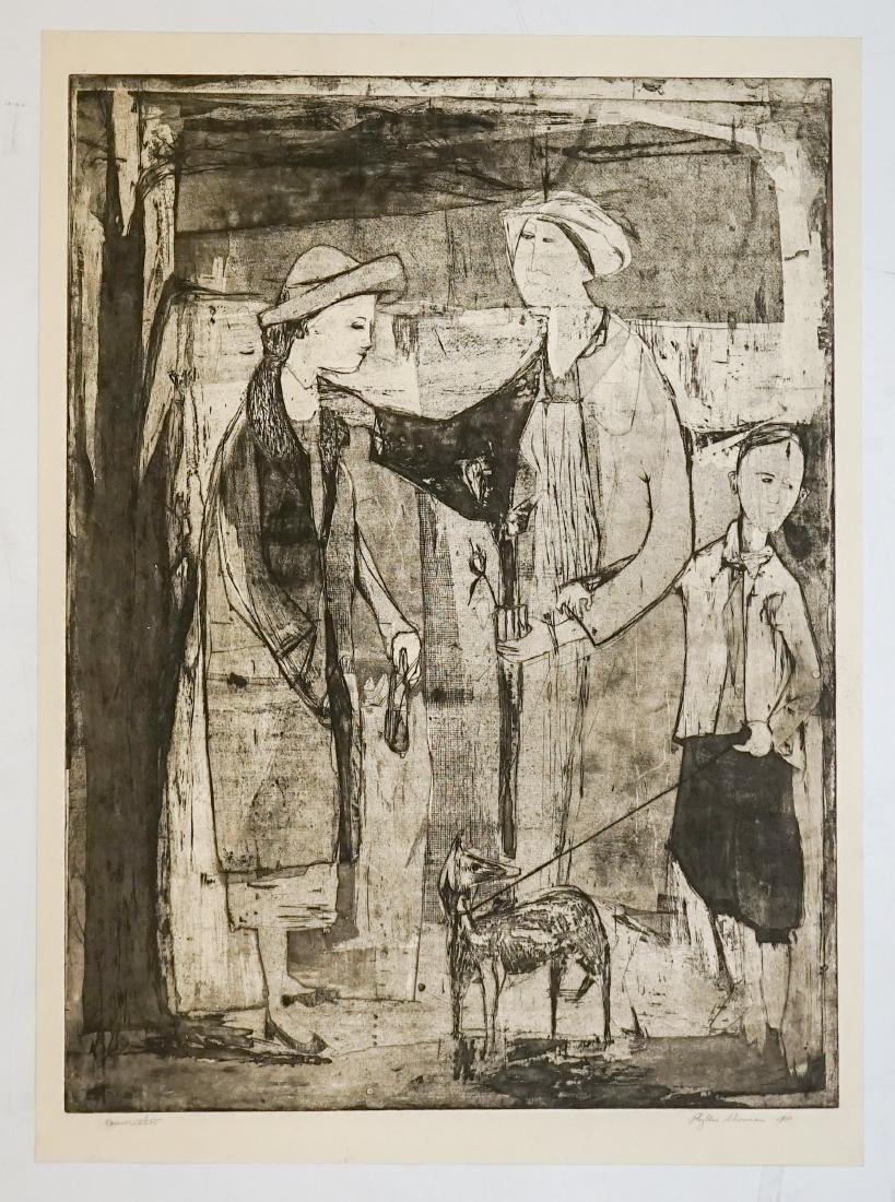Phyllis Sherman Mid-Century Large Etching - 2
