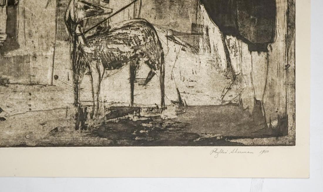 Phyllis Sherman Mid-Century Large Etching - 4