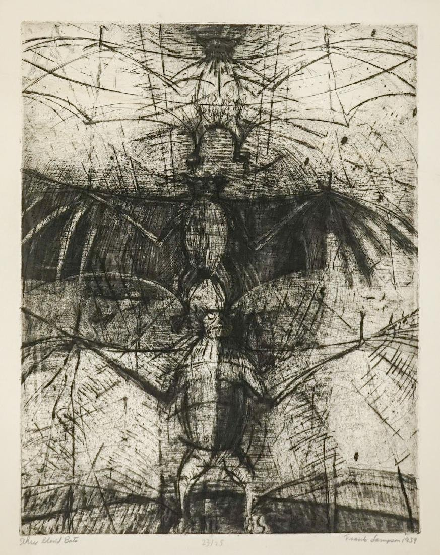 Frank Sampson (Colorado born 1928) Large Etching