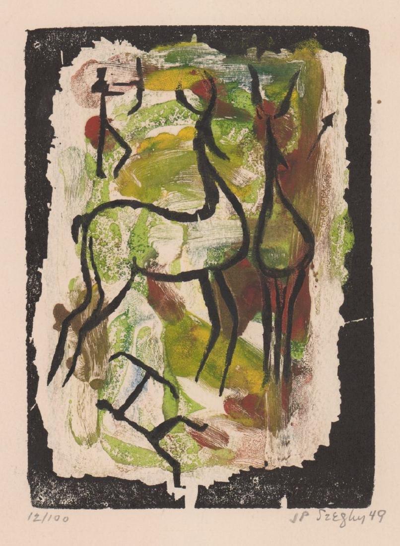 J.P. Szeghy Woodblock Print
